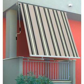 Tenda da sole a caduta con bracci 245 x 245 cm verde/beige