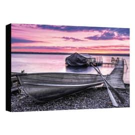 quadro su tela Canvas barca lilla 30x40 30x40
