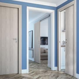 Porta da interno battente One ash wood Frassino 80 x H 210 cm reversibile