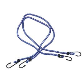2 corde elastiche con gancii semplici in metallo Ø 6 mm, 0,8 m