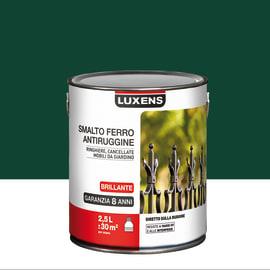 Smalto per ferro antiruggine Luxens verde muschio brillante 2,5 L