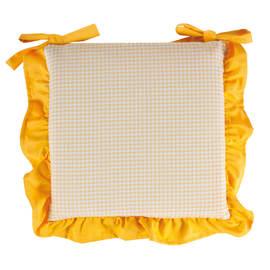 Cuscino per sedia sfoderabile double face Country giallo 40 x 40 cm