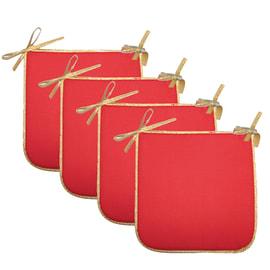 Set 4  coprisedia rosso 38 x 38 cm
