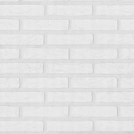 Carta da parati Mattone Soft bianco 10 m