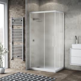 Box doccia scorrevole Record 70 x 120, H 195 cm cristallo 6 mm satinato/bianco lucido