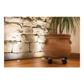 Carrello portavaso quadro per vasi regolabile in acciaio ø 40 cm grigio
