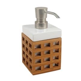 Dispenser sapone Fudji bianco/legno chiaro