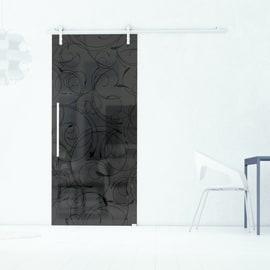 Porta da interno scorrevole Rose Fumè 96 x H 215 cm dx