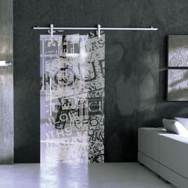 Porta da interno scorrevole Vogue/binario Ermes 96 x H 215 cm sx