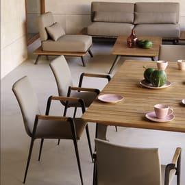 Set tavolo e sedie Cosmo marrone, nero e grigio