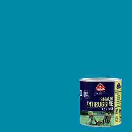 Smalto per ferro antiruggine blu satinato 2 L