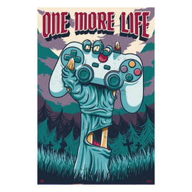 "Poster Gamer - ""One more life"" 61 x 91,5 cm"