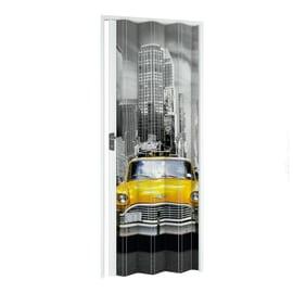 Porta a soffietto New York fantasia L 115 x H 214 cm