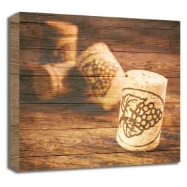 Quadro in legno Tappi 30x30