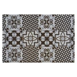 Tappetino cucina antiscivolo Gobelin bianco e nero 60 x 90 cm