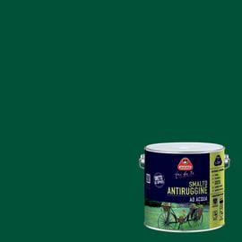 Smalto per ferro antiruggine verde imperiale satinato 2 L