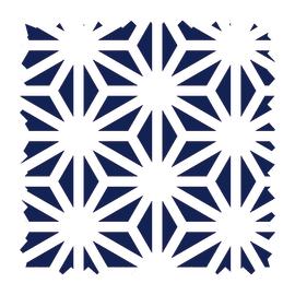 Tessuto su ordinazione Samarcanda geometrico blu