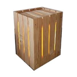 Cubo dogato legno L 30 x P 30 x H 45 cm grezzo