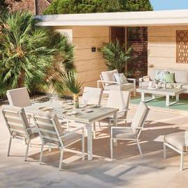 Set tavolo e sedie Las Vegas alluminio