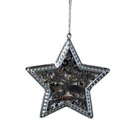 Stella argento 9 x 9 x 0,7 cm