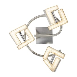 Spirale a 3 luci Emma nickel LED integrato