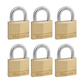 6 luchetti rettangolari a chiave arco standard 40 mm