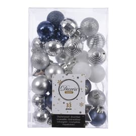 Box pendenti assortiti blu - argento ø 4 cm