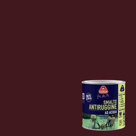 Smalto per ferro antiruggine castagna satinato 0,5 L