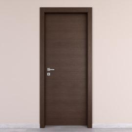 Porta da interno battente Timber Fumo 60 x H 210 cm reversibile
