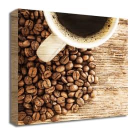 Quadro in legno Coffee up 30x30