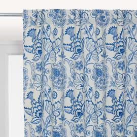 Tenda oscurante Flowers passanti nascosti blu 140 x 280 cm