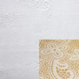 Tovaglia plastificata Cristallo pizzo bianco 220 x 140 cm