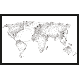 Quadro in plexiglass World map 42x63