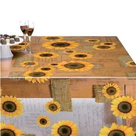 Tovaglia plastificata Cristallo girasole giallo 160 x 140 cm