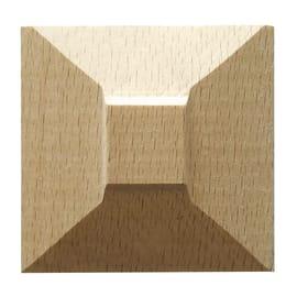 Fregio faggio levigato naturale 10 x 50 x 50 mm