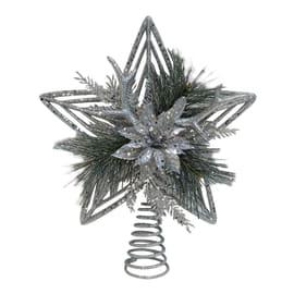Puntale stella 5 punte argento ø 0 cm