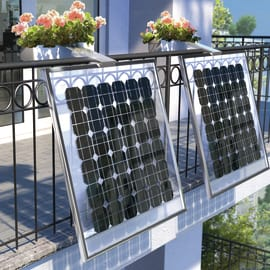 Impianto fotovoltaico da balcone fai da te 160 watt blu 0,16 kW