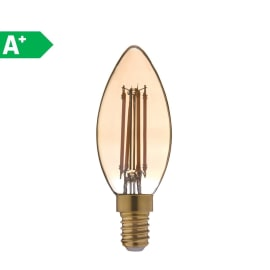 Lampadina decorativa LED Lexman E14 =28W oliva luce calda 360°