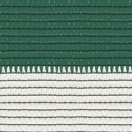 Rete ombreggiante Soleado Sport a strisce orizzontali bicolore bianco e verde L 100 x H 2 m