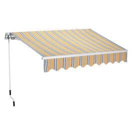 Tenda da sole a bracci estensibili su barra quadra 300 x 200 cm giallo