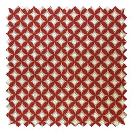 Tessuto su ordinazione Panama Gaia geometrico rosso