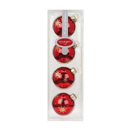 Box sfere rosso ø 6 cm