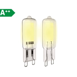 2 lampadine LED G9 =40W giallo 320°