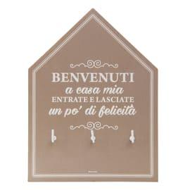 Bacheca porta chiavi BENVENUTI 3 posti Fantasia 15 x 3 x 20 cm