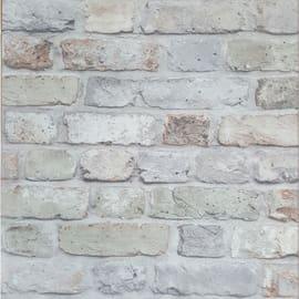 Carta da parati Mattoni naturali grigio 10 m