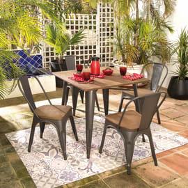 Set tavolo e sedie Soho bamboo grigio antracite