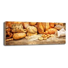 Quadro in legno Bread 20x50