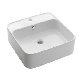 Lavabo da appoggio quadrato Orotava L 47 x P 47 x H  15 cm bianco