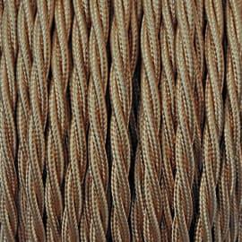 Cavo treccia tessile 2,5 mm oro, matassa 50 m