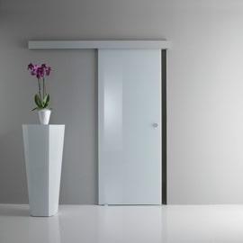 Porta da interno scorrevole Sirio bianco 85 x H 215 cm reversibile